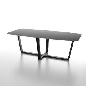 Table en céramique noire design avec piétement moderne - Viktor