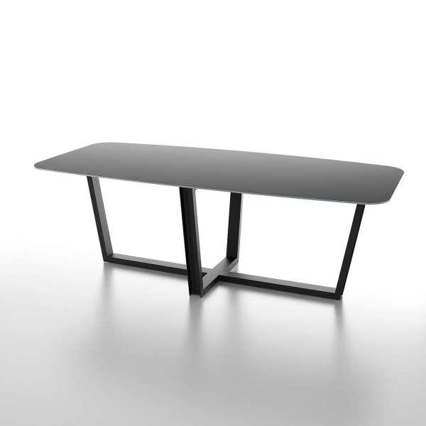 Table en céramique noire design avec piétement moderne - Viktor - 1
