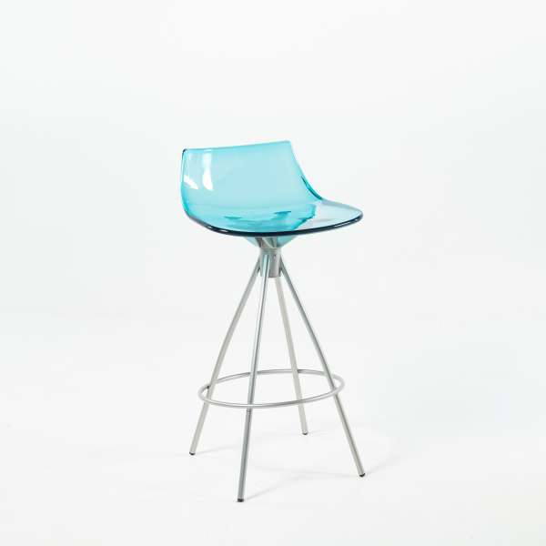 Tabouret design snack en plexi - Led