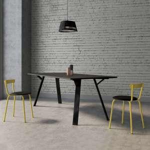 Chaise de cuisine jaune de fabrication française - Xoxo