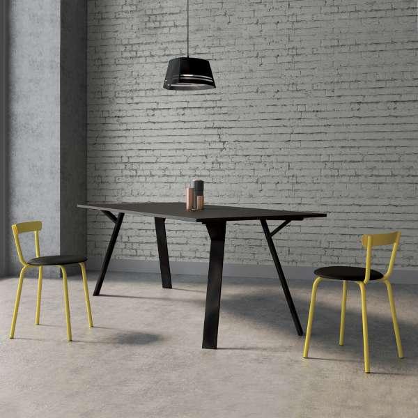 Chaise de cuisine jaune de fabrication française - Xoxo - 1