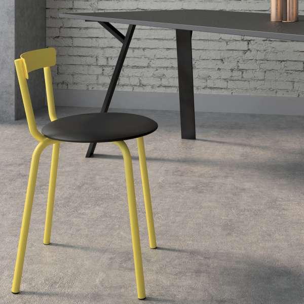 Chaise de cuisine moderne jaune de fabrication française - Xoxo - 2