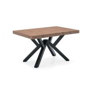 Table extensible design en mélaminé avec pieds en bois - Mikado Connubia©