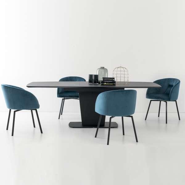 Table de salle à manger extensible en céramique grise - Athos Connubia® - 11