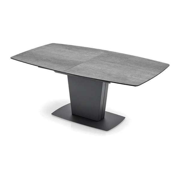 Table de salle à manger extensible en céramique grise - Athos Connubia® - 14
