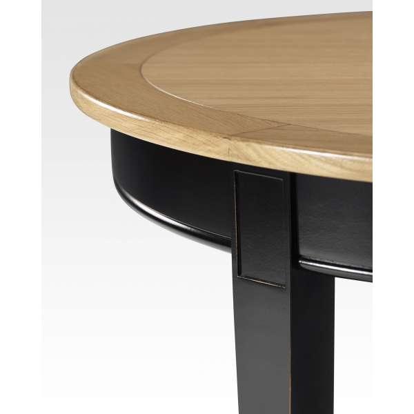 Table de style ronde et extensible en bois - Clémence - 3