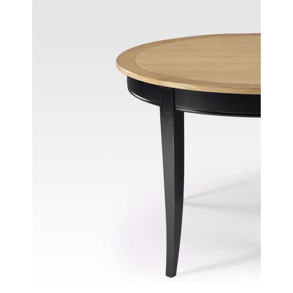 Table ronde et extensible en bois - Clémence - 4
