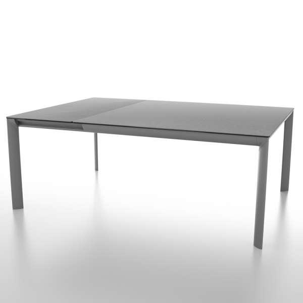 Table carrée avec allonge en céramique et pieds en métal - Cocoon - 2