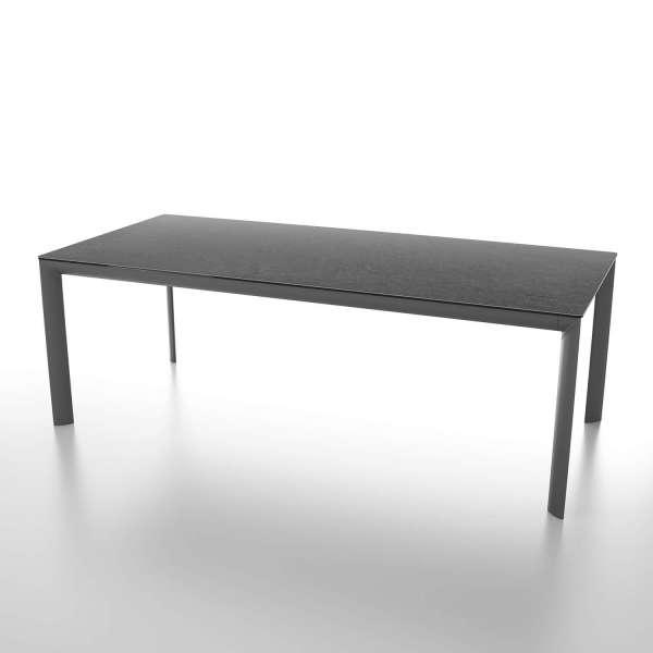 Table italienne rectangulaire extensible en céramique noire contemporaine - Cocoon - 1