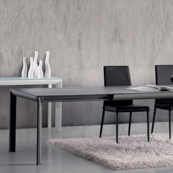 Table italienne rectangulaire extensible en céramique grise contemporaine - Cocoon - 5