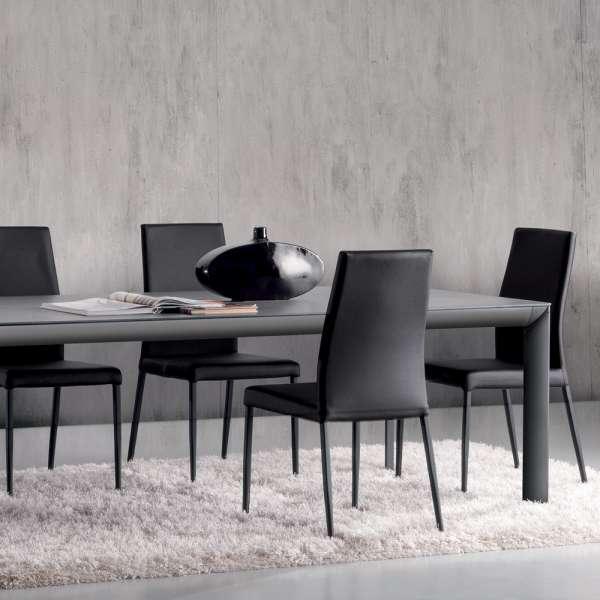 Table italienne rectangulaire extensible en céramique contemporaine - Cocoon - 6