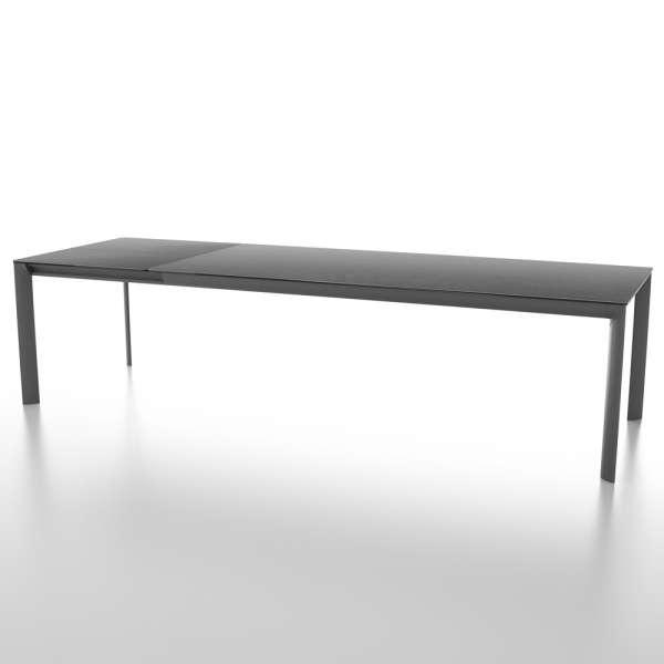 Table italienne rectangulaire avec allonge en céramique noire contemporaine - Cocoon - 2