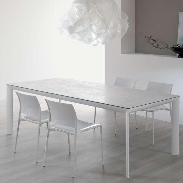 Table italienne rectangulaire extensible en céramique blanche contemporaine - Cocoon - 3