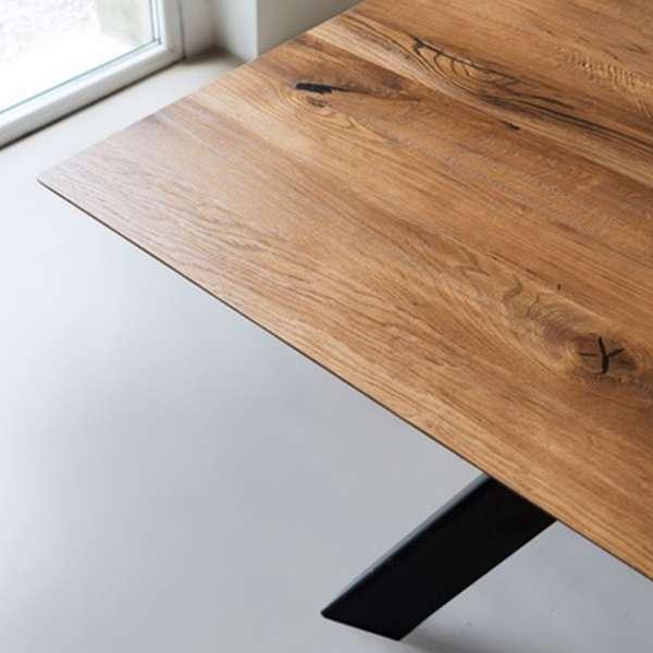 Table industrielle carrée en bois massif avec pieds en métal finition industrielle - Toledo - 4
