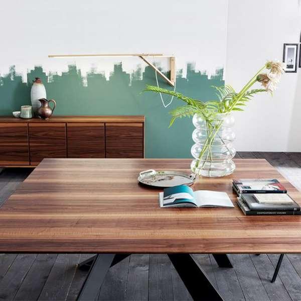 Table design en bois massif avec pieds en métal finition industrielle - Toledo - 5