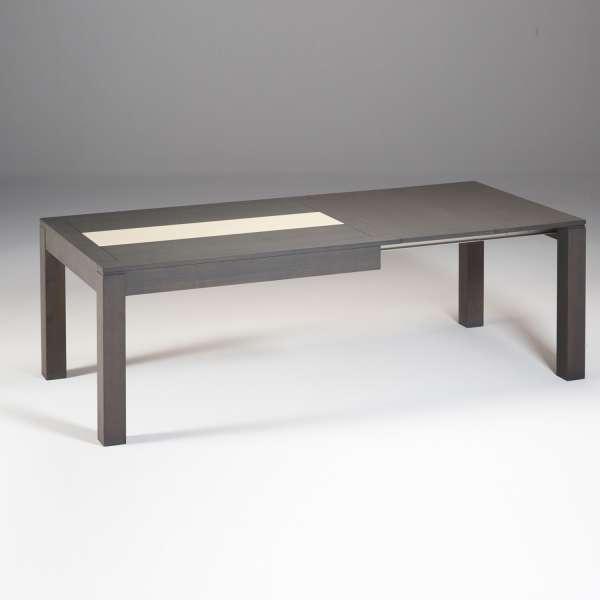 Table contemporaine en bois avec allonges et avec chemin de table en céramique - MRC410 - 3