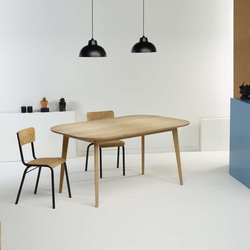 Table scandinave en bois massif fabrication fran aise snb 4 - Fabrication table bois ...