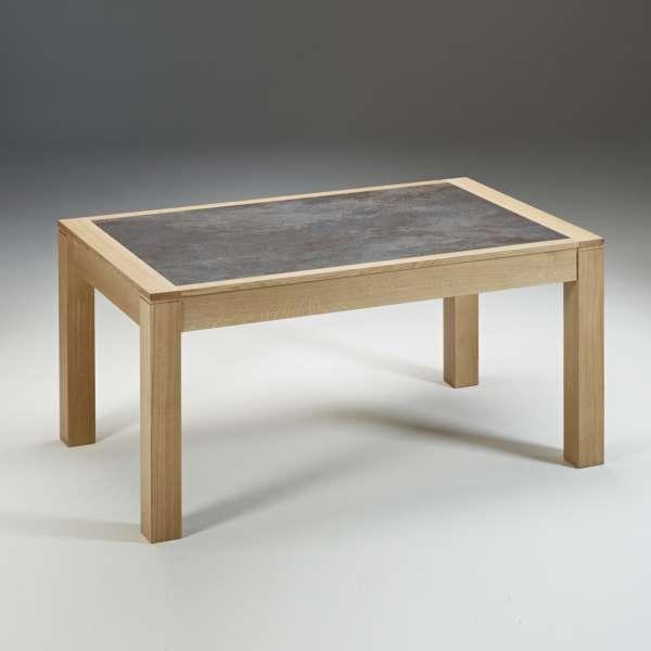 Table en céramique grise et bois naturel extensible made in France - MRC41 - 2