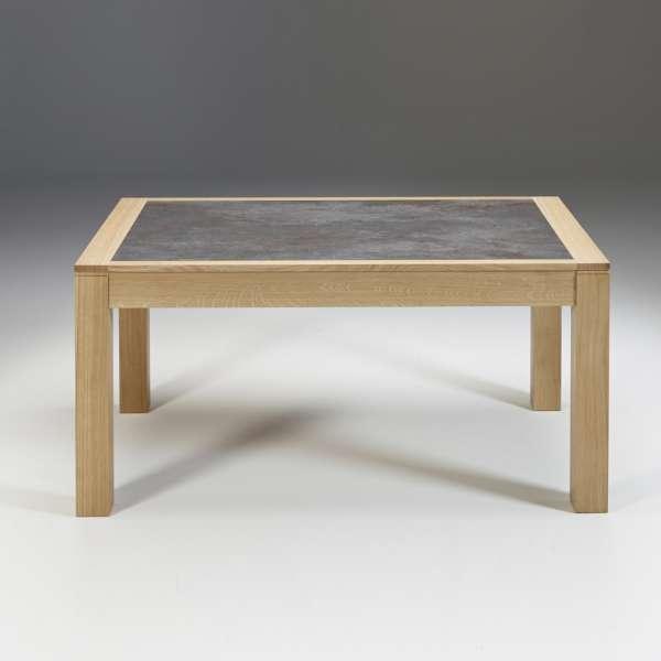 Table contemporaine en céramique grise et bois naturel avec allonges made in France - MRC41 - 3