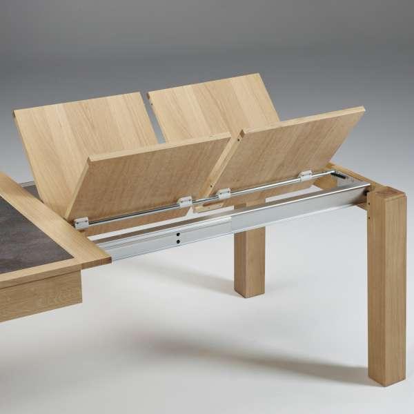 Table française avec allonges, plateau en céramique et bois MRC61 - 6