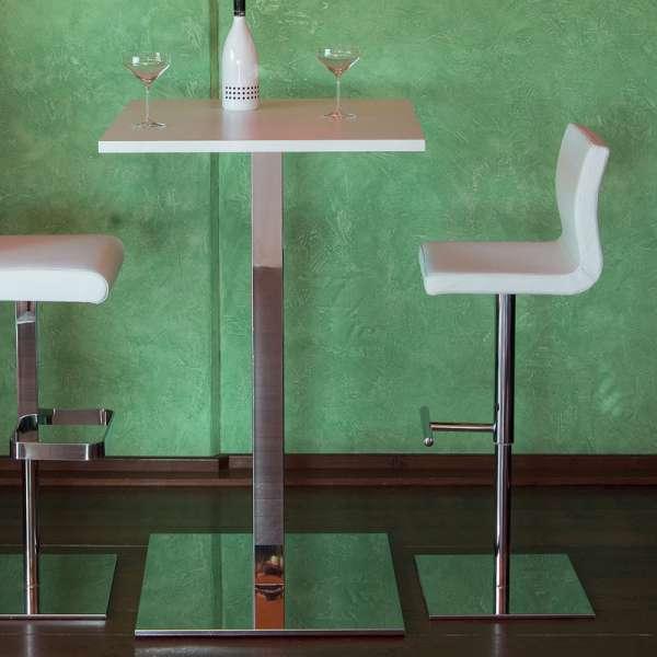 Tabouret réglable en hauteur et pivotant fabriqué en Italie - Quadra - 3