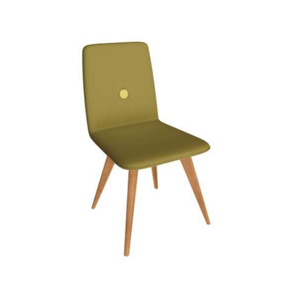 Chaise fabriquée en Italie en vert noir et pieds en bois - Nio - 6