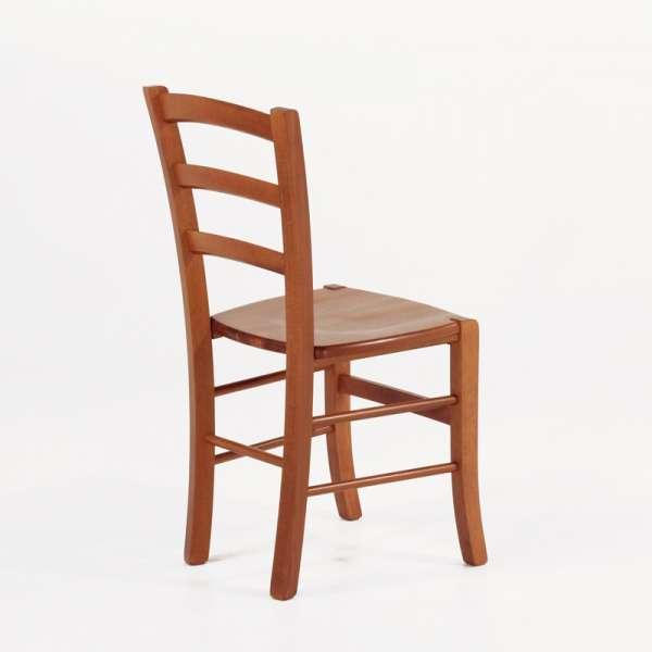 Chaise en bois rustique moyen avec assise bois - Brocéliande - 6