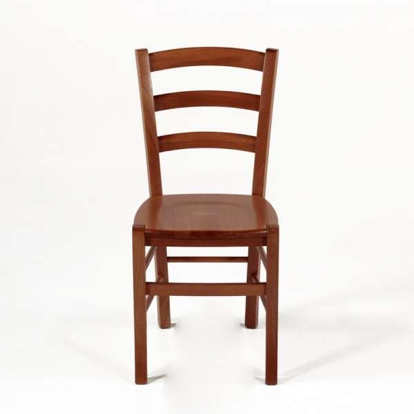 Chaise en bois teintée merisier - Brocéliande - 3