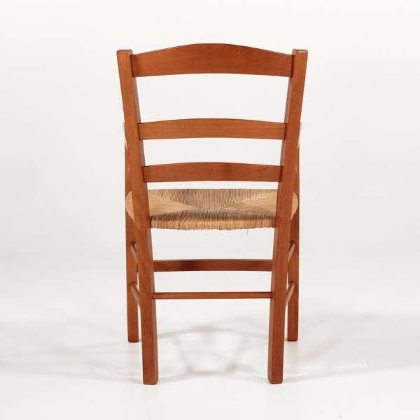 Fauteuil campagnard en bois massif moyen rustique et paille - Brocéliande - 10