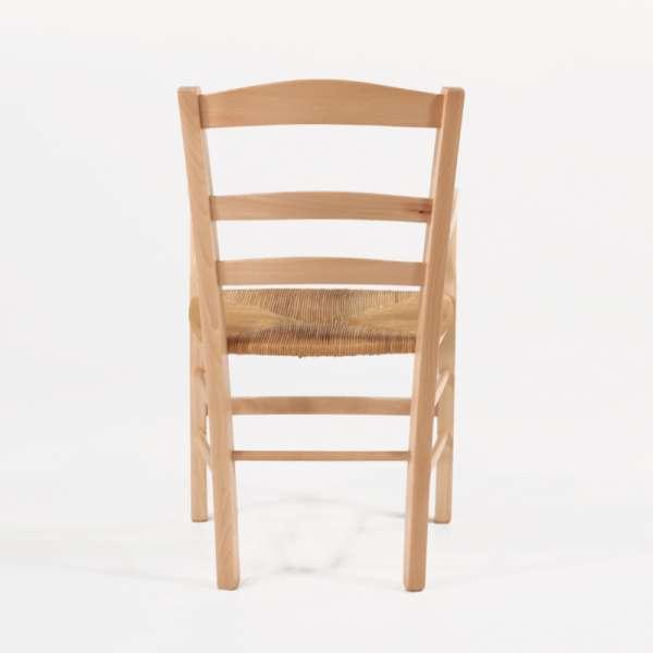 Fauteuil en paille et bois massif clair rustique - Brocéliande - 2