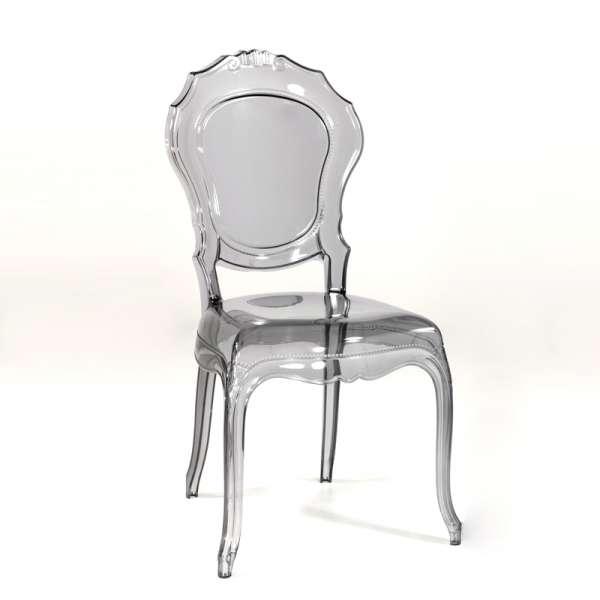 Chaise transparente grise style régence - Belle Epoque - 17