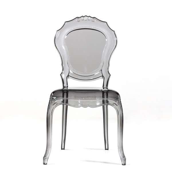 Chaise régence transparente gris fumé - Belle Epoque - 14