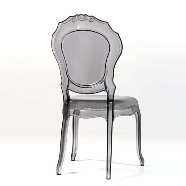 Chaise transparente noire style régence - Belle Epoque - 15