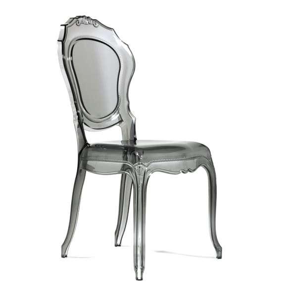 Chaise Louis XV transparente grise - Belle Époque - 12