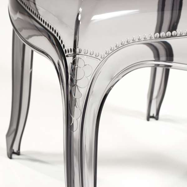 Chaise Louis XV moulée en polycarbonate transparent - Belle Epoque - 21
