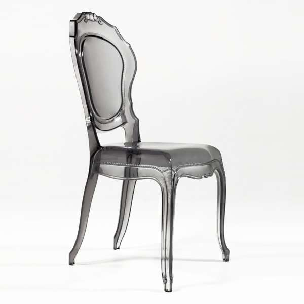 Chaise design Louis XV en polycarbonate transparent - Belle Epoque - 24