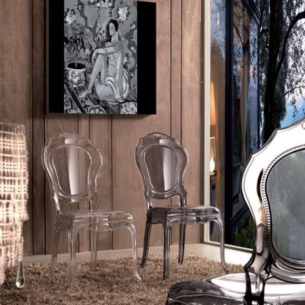 Chaise Louis XV transparente en polycarbonate - Belle Époque - 9