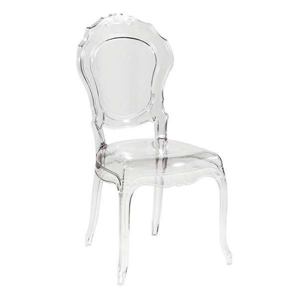Chaise Louis XV transparente modernisée en polycarbonate - Belle Époque - 1