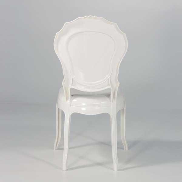 Chaise régence en polycarbonate opaque blanc - Belle Époque - 4