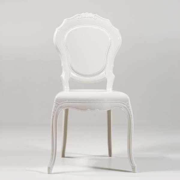 Chaise Louis XV en polycarbonate opaque blanc - Belle Époque - 2