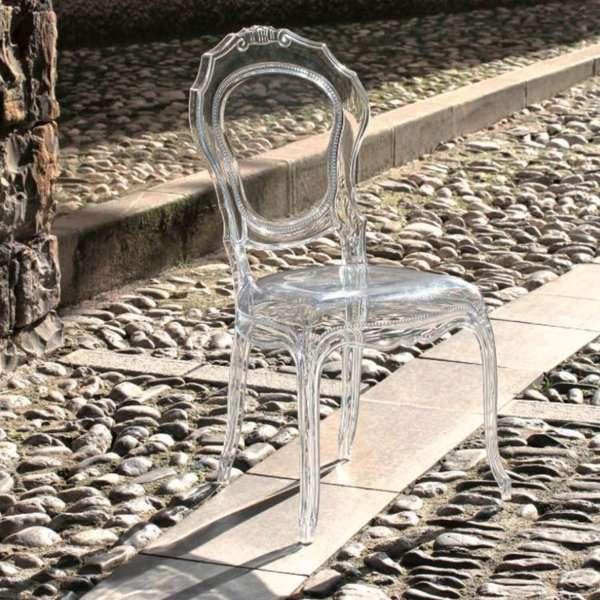 Chaise belle époque transparente design inspiration Louis XV - 8
