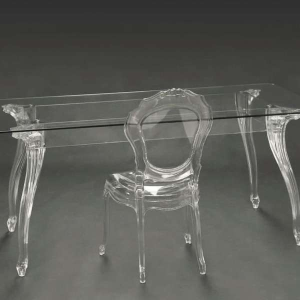 Chaise belle époque en plastique transparent - 7