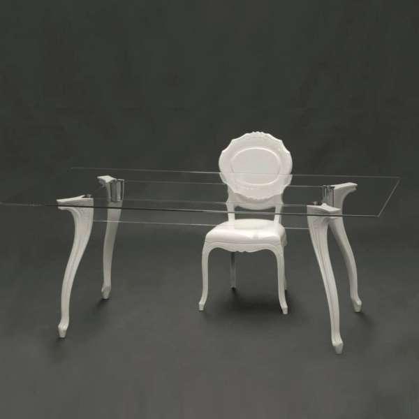 Chaise moderne en polycarbonate opaque blanc - Belle Époque - 7