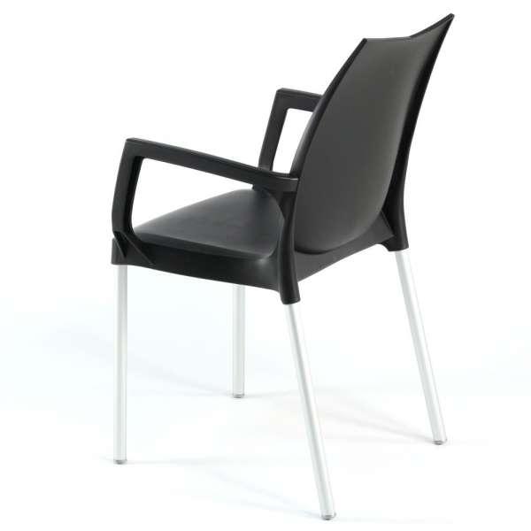 Fauteuil marron et métal aluminium - Tulip - 10