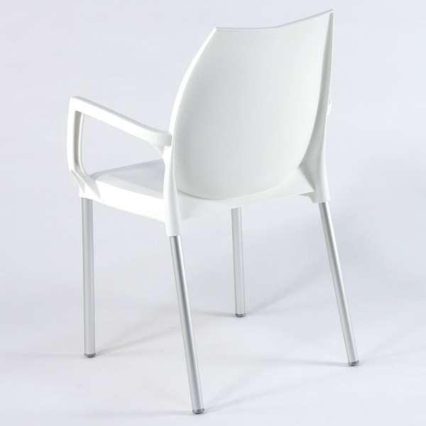 Fauteuil en plastique blanc et métal aluminium - Tulip - 13