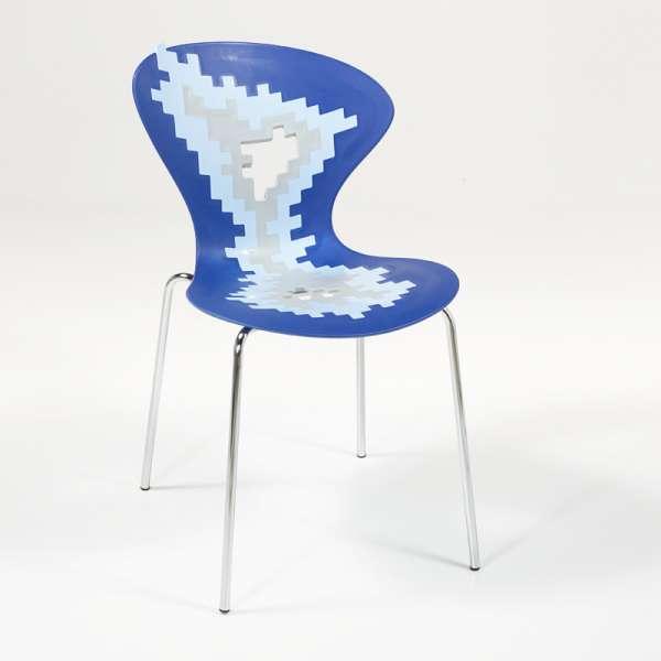Chaise multicolore de designer empilable avec motifs déstructurés - Big Bang - 3