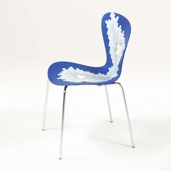 Chaise multicolore design empilable avec motifs déstructurés - Big Bang - 4