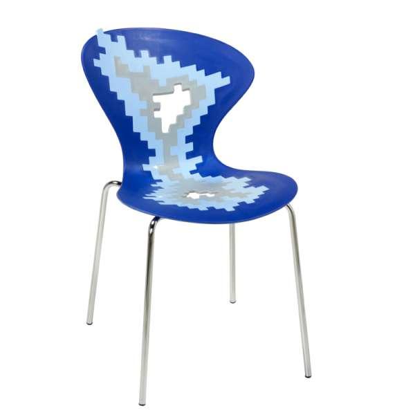 Chaise originale multicolore de designer empilable avec motifs déstructurés - Big Bang - 8