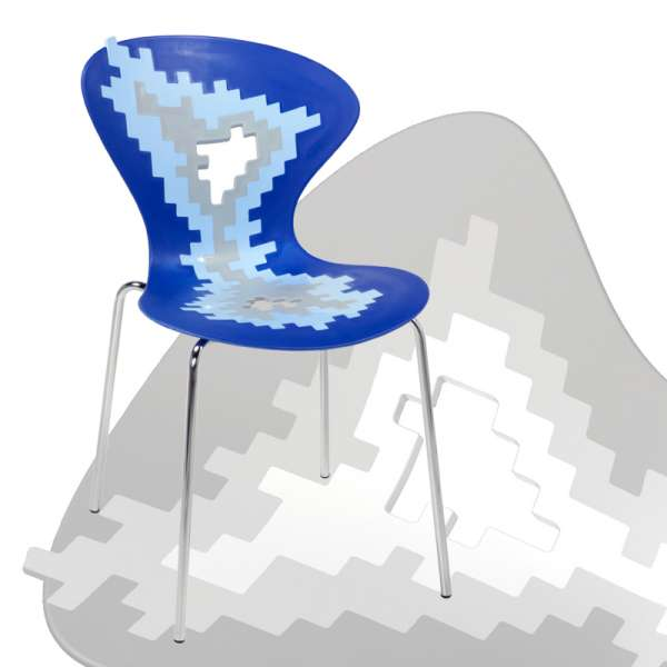 Chaise originale multicolore design empilable avec motifs déstructurés - Big Bang - 9