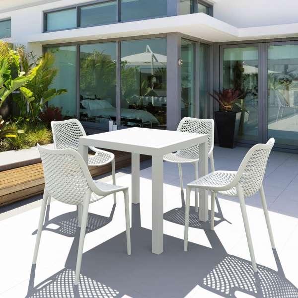 Chaise de jardin moderne ajourée en polypropylène blanc - Air - 14